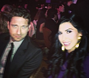 beril with Gerard Butler